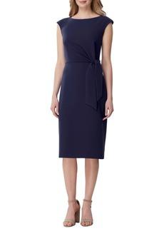 Tahari Arthur S. Levine Side Tie Crepe Sheath Dress