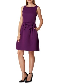 Tahari Arthur S. Levine Sleeveless Bow Fit-&-Flare Dress