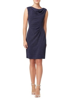 Tahari Arthur S. Levine Sleeveless Cowlneck Sheath Dress