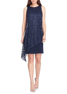 Tahari Arthur S. Levine Sleeveless Overlay Sheath Dress