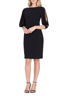 Tahari Arthur S. Levine Slit Sleeve Sheath Dress
