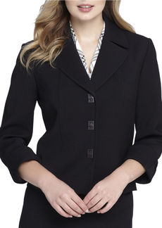 TAHARI ARTHUR S. LEVINE Solid Quarter Sleeve Jacket