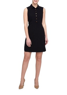 TAHARI ARTHUR S. LEVINE Spread Collar Sleeveless Shirtdress