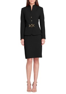 Tahari Arthur S. Levine Stand Collar Jacket and Skirt Suit