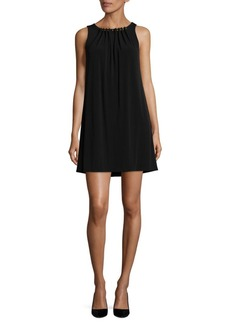 Tahari Arthur S. Levine Studded Shift Dress