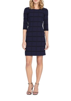 TAHARI ARTHUR S. LEVINE Textured Checkered Sheath Dress