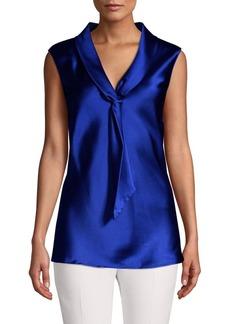 Tahari Arthur S. Levine Tie-Neck Sailor Top
