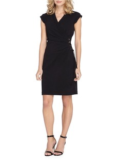 TAHARI ARTHUR S. LEVINE V-Neck Short Sleeve Dress