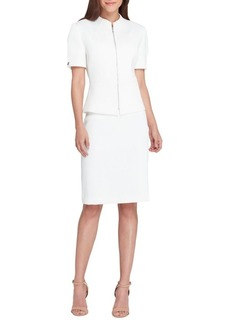 Tahari Arthur S. Levine Zip Front Jacket and Skirt Suit