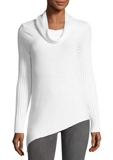 Tahari Ash Asymmetric-Hem Sweater