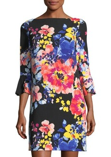 Tahari ASL 3/4-Sleeve Floral-Print Shift Dress