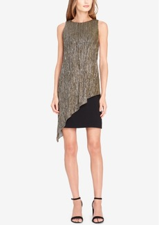 Tahari Asl Asymmetrical Shift Dress