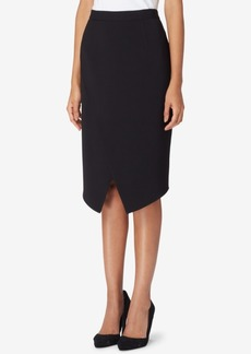 Tahari Asl Asymmetrical Wrap Skirt