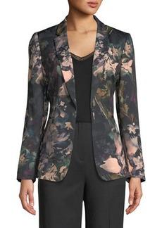 Tahari ASL Bea Floral-Print Blazer Jacket
