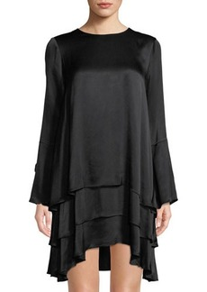 Tahari ASL Bella Ruffled Shift Dress