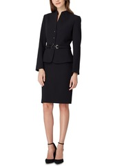 Tahari Asl Belted-Jacket Skirt Suit