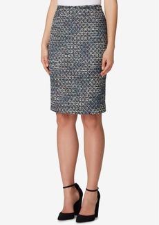 Tahari Asl Boucle Sequin Pencil Skirt