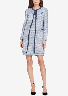 Tahari Asl Boucle Topper Jacket & Sheath Dress