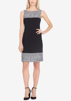 Tahari Asl Boucle-Trim Dress