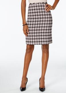 Tahari Asl Boucle Tweed Skirt
