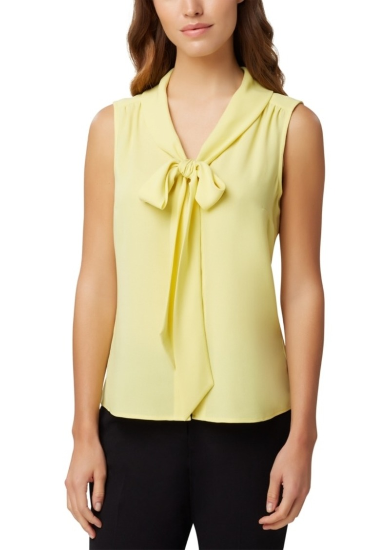 Tahari Asl Bow-Neck Blouse