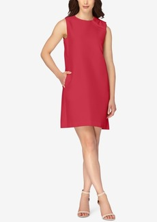 Tahari Asl Bow Shoulder Shift Dress