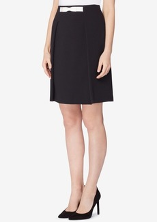 Tahari Asl Bow-Waist A-Line Skirt