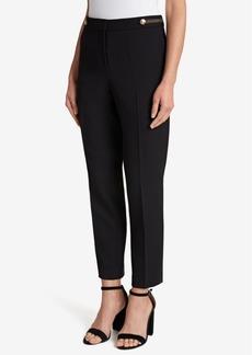 Tahari Asl Button-Detail Ankle Pants