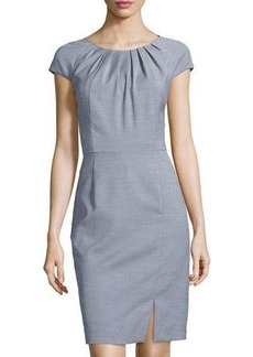 Tahari Cap-Sleeve Dress