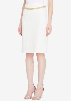 Tahari Asl Chain-Belt Boucle Skirt, Regular & Petite