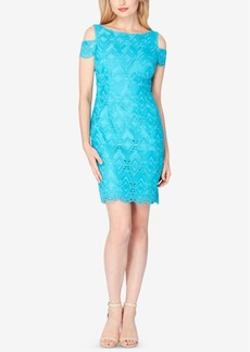 Tahari Asl Cold-Shoulder Lace Sheath Dress