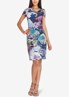 Tahari Asl Cold-Shoulder Sheath Dress