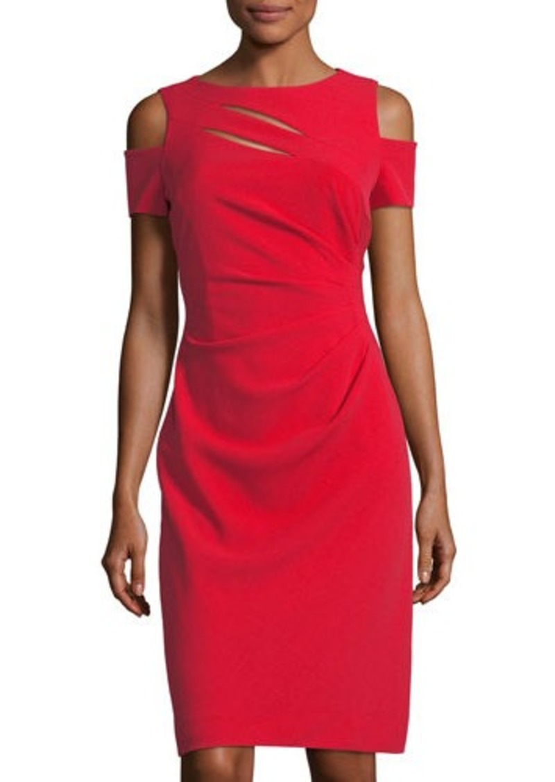 1dca87b822b6 Tahari Tahari ASL Cold-Shoulder Side-Ruched Dress | Dresses