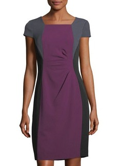Tahari ASL Colorblock Short-Sleeve Sheath Dress