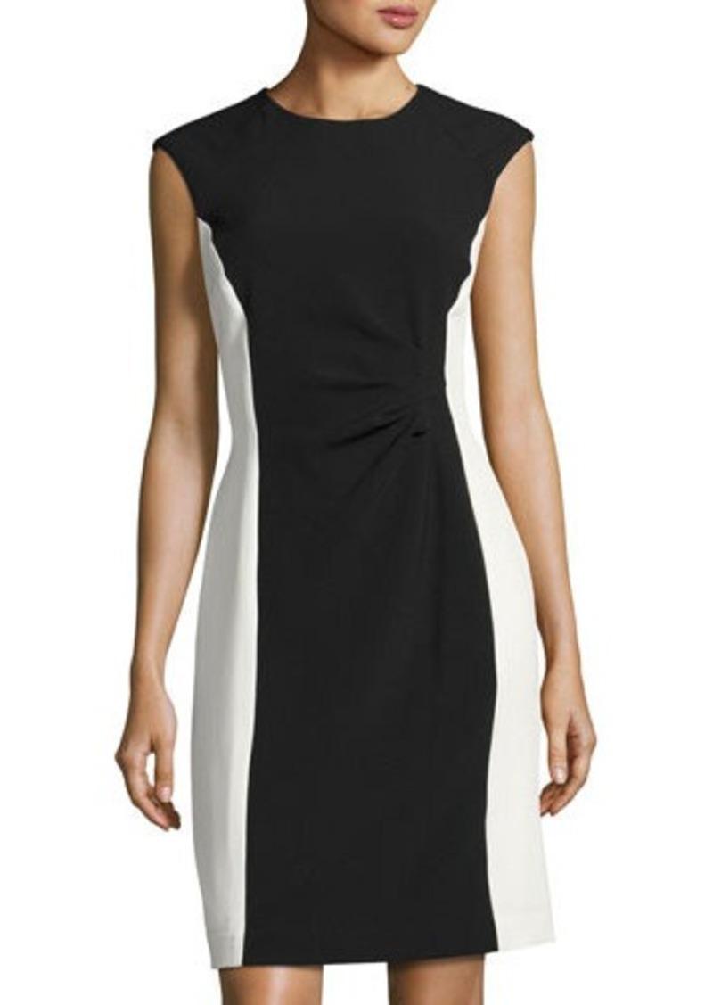 19029adc3e0c Tahari Tahari ASL Colorblock Sleeveless Crepe Dress