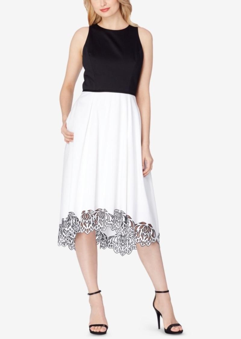 Tahari Asl Colorblocked Midi Dress