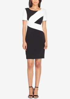 Tahari Asl Colorblocked Sheath Dress