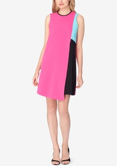Tahari Asl Colorblocked Shift Dress