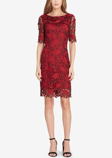Tahari Asl Contrast Lace Dress
