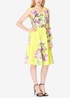 Tahari Asl Cotton Floral-Print Fit & Flare Dress