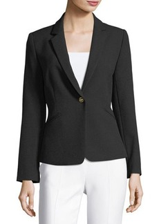 Tahari ASL Crepe One-Button Jacket