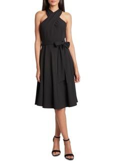 Tahari Asl Crisscross-Neck Dress