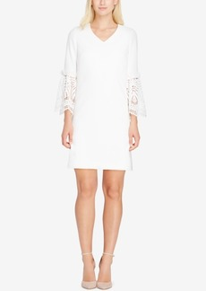 Tahari Asl Crochet-Contrast Shift Dress