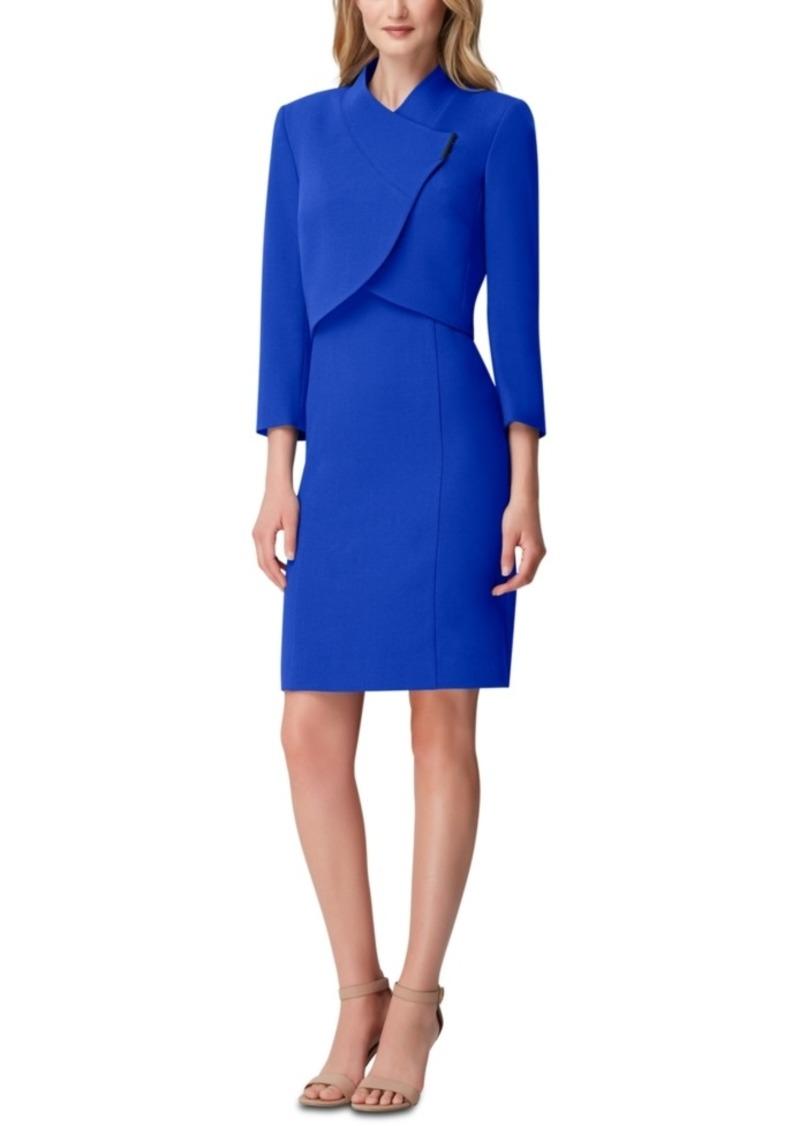 Tahari Asl Cropped-Jacket Dress Suit