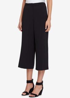 Tahari Asl Cropped Wide-Leg Crepe Pants