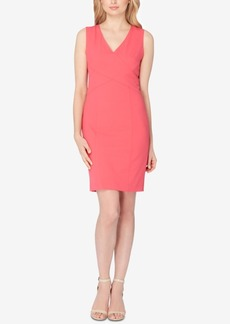 Tahari Asl Crossover Sheath Dress
