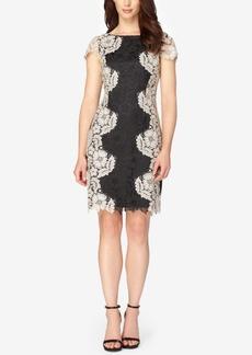 Tahari Asl Cutout-Back Lace Sheath Dress