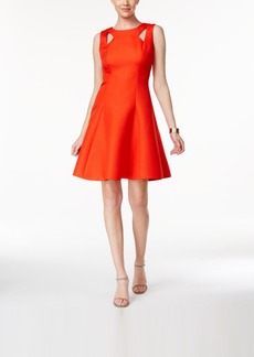 Tahari Asl Cutout Fit & Flare Dress