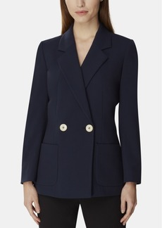 Tahari Asl Double-Breasted Notch Collar Jacket
