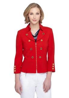 Tahari ASL® Double Breasted Peplum Zip Jacket